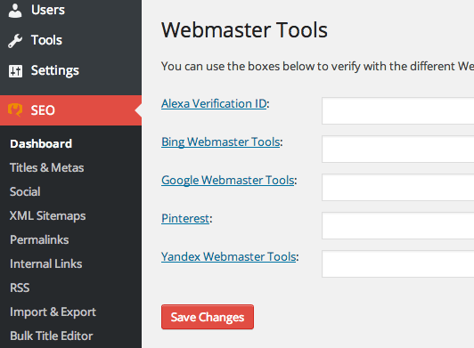 yoast-webmaster-integration