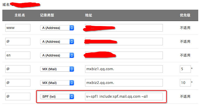 Tencent-mail-spf