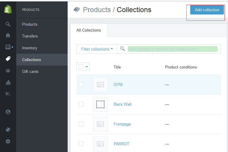 addCollections
